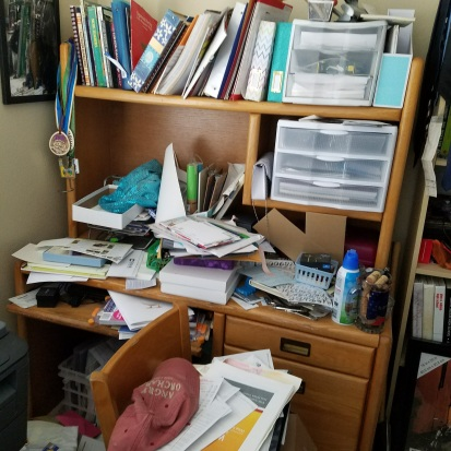BEFORE: A pile of stuff